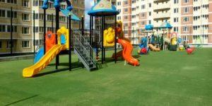 Газоны на детских площадках